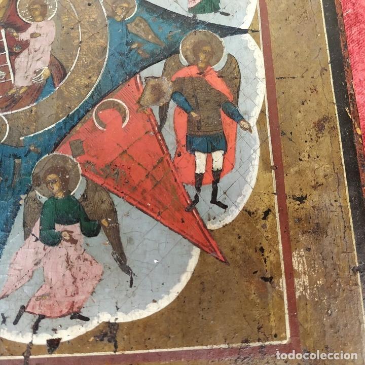 Arte: ICONO ORTODOXO. VIRGEN MARIA CON NIÑO. ÓLEO SOBRE TABLA. ESCUELA RUSA. RUSIA. XIX - Foto 3 - 195189178