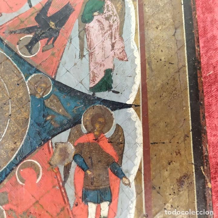 Arte: ICONO ORTODOXO. VIRGEN MARIA CON NIÑO. ÓLEO SOBRE TABLA. ESCUELA RUSA. RUSIA. XIX - Foto 9 - 195189178