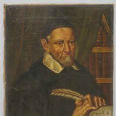 Arte: RETRATO DE SAN VICENTE DE PAUL. OLEO S/ LIENZO. SIGLO XVIII-XIX. Lote 195190141