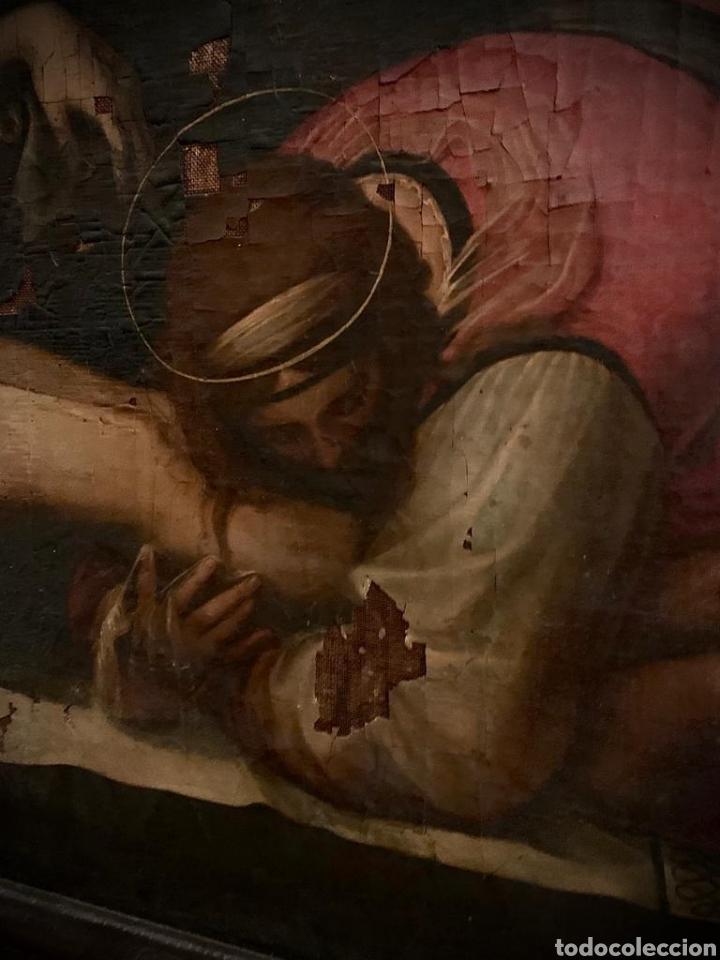 Arte: Óleo sobre lienzo del último cuarto del siglo XIX religioso - Foto 3 - 195191301