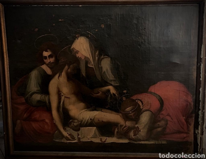 ÓLEO SOBRE LIENZO DEL ÚLTIMO CUARTO DEL SIGLO XIX RELIGIOSO (Arte - Arte Religioso - Pintura Religiosa - Oleo)