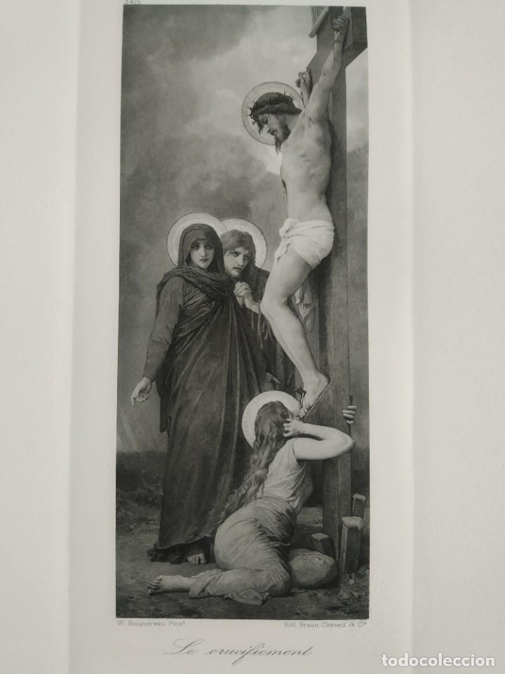 REBAJAS!!! ÚNICO ! HELIO GRABADO CRUCIFIXIÓN, 1900-1910 (Arte - Arte Religioso - Grabados)
