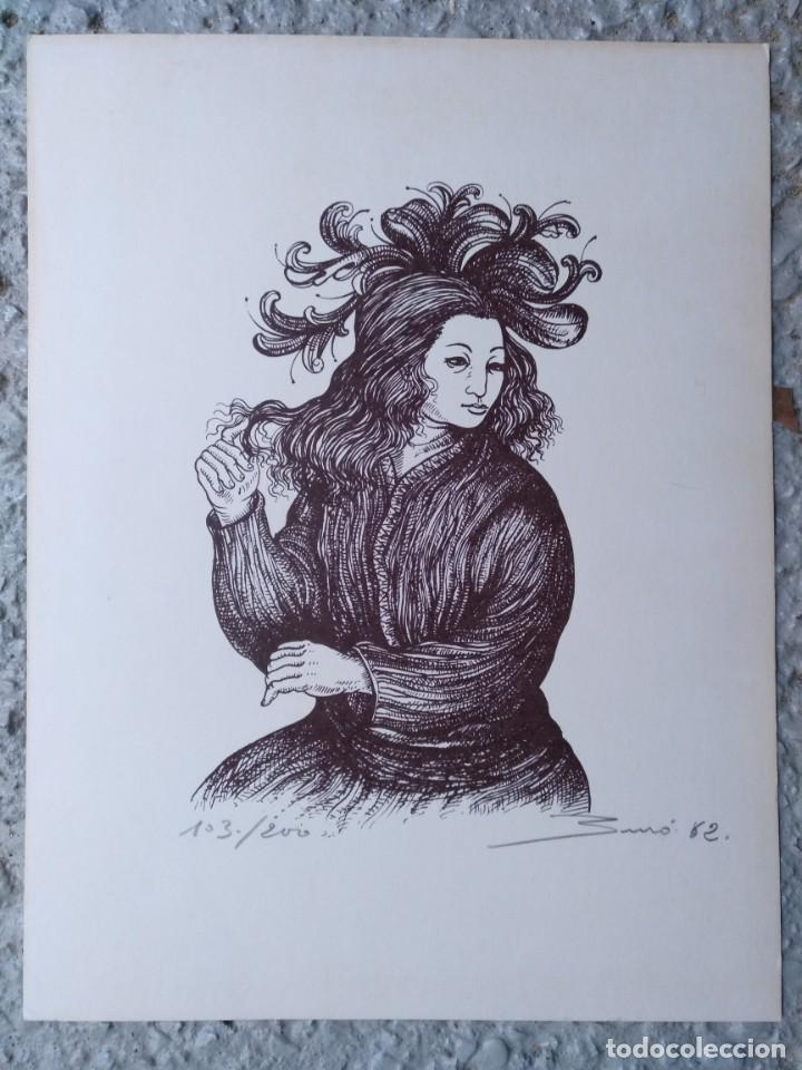 LITOGLITOGRAFIA CARLOS BURO NUMERADA Y FIRMADA 103/200 1982. 23 X 30 CM (APROX) (Arte - Arte Religioso - Litografías)