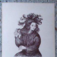 Arte: LITOGLITOGRAFIA CARLOS BURO NUMERADA Y FIRMADA 103/200 1982. 23 X 30 CM (APROX). Lote 195193092