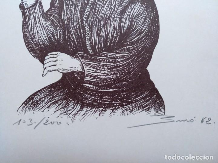 Arte: LITOGLITOGRAFIA CARLOS BURO NUMERADA Y FIRMADA 103/200 1982. 23 X 30 CM (APROX) - Foto 3 - 195193092