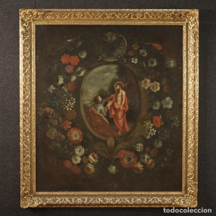 ANTIGUA PINTURA RELIGIOSA ESPAÑOLA DEL SIGLO XVIII (Arte - Arte Religioso - Pintura Religiosa - Oleo)