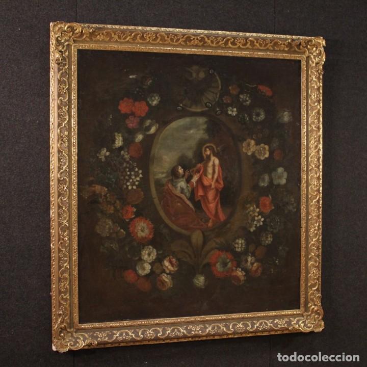 Arte: Antigua pintura religiosa española del siglo XVIII - Foto 5 - 195200002