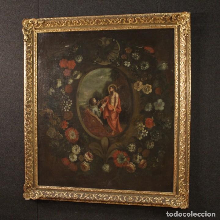 Arte: Antigua pintura religiosa española del siglo XVIII - Foto 9 - 195200002