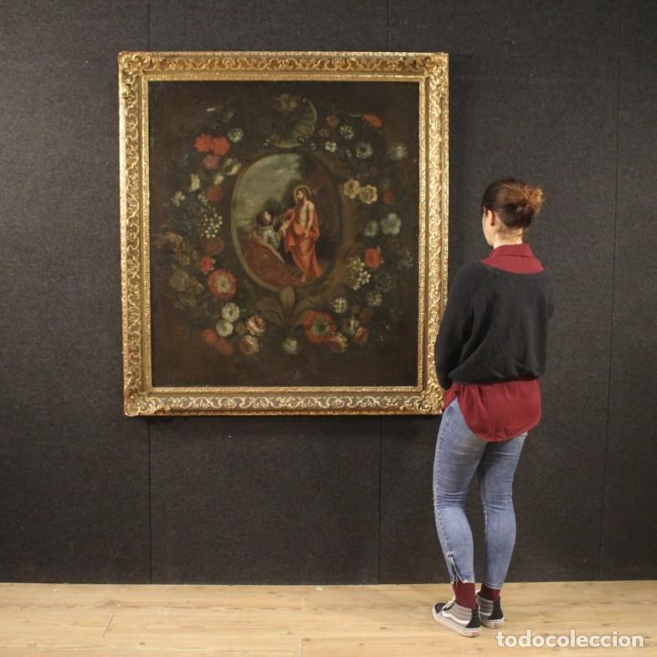 Arte: Antigua pintura religiosa española del siglo XVIII - Foto 11 - 195200002