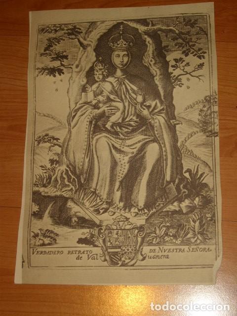 Arte: ANTIGUA LAMINA EN PAPEL SECANTE DE LA VIRGEN. - Foto 2 - 195249295