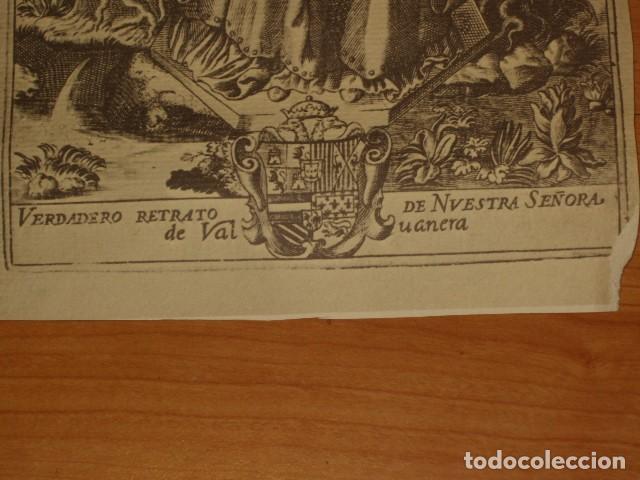 Arte: ANTIGUA LAMINA EN PAPEL SECANTE DE LA VIRGEN. - Foto 3 - 195249295