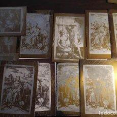 Arte: ANTIGUAS PLANCHAS DE METAL PARA LITOGRAFÍA O SERIGRAFÍA RELIGIOSAS . Lote 195253585