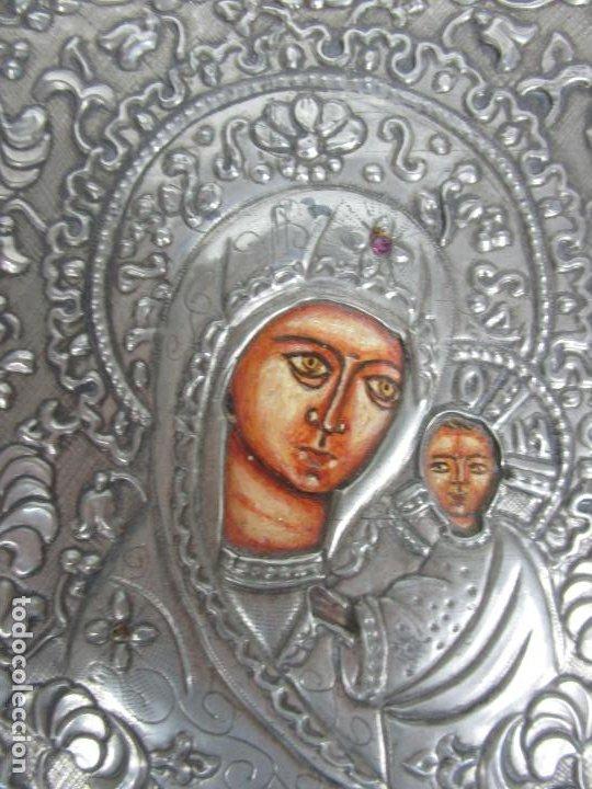 Arte: Bonito Icono Plateado - Reproducción - Gremio de Artesanos de Madrid - Certificado de Autenticidad - Foto 2 - 195269135