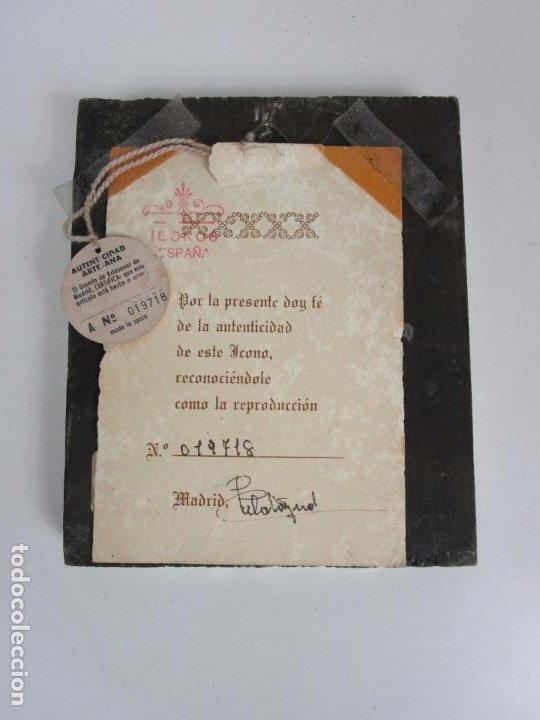 Arte: Bonito Icono Plateado - Reproducción - Gremio de Artesanos de Madrid - Certificado de Autenticidad - Foto 5 - 195269135