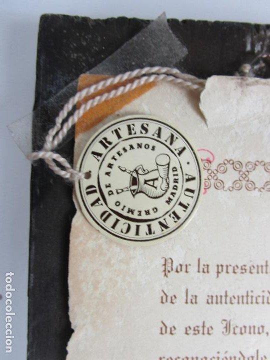 Arte: Bonito Icono Plateado - Reproducción - Gremio de Artesanos de Madrid - Certificado de Autenticidad - Foto 6 - 195269135