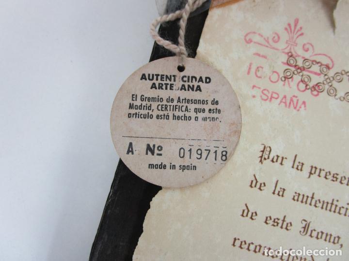 Arte: Bonito Icono Plateado - Reproducción - Gremio de Artesanos de Madrid - Certificado de Autenticidad - Foto 7 - 195269135
