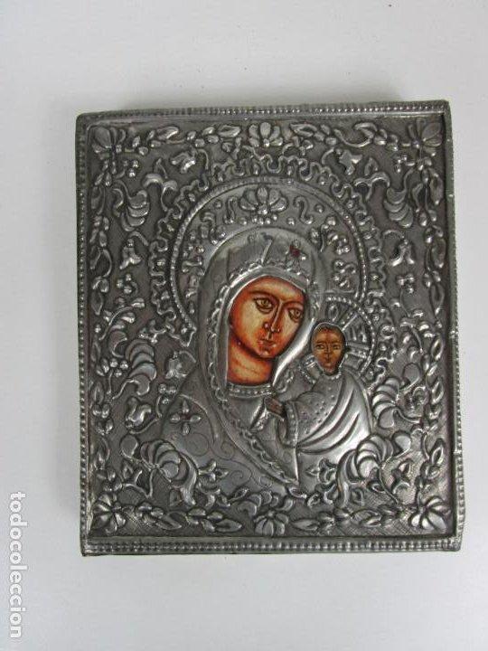 Arte: Bonito Icono Plateado - Reproducción - Gremio de Artesanos de Madrid - Certificado de Autenticidad - Foto 9 - 195269135