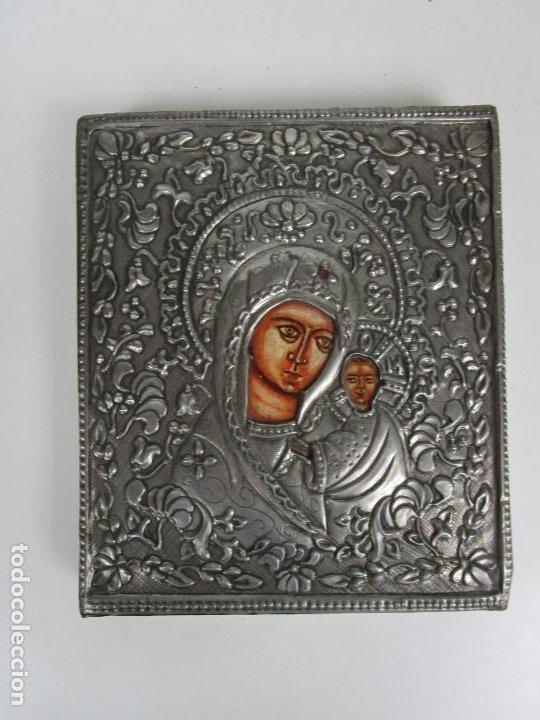 BONITO ICONO PLATEADO - REPRODUCCIÓN - GREMIO DE ARTESANOS DE MADRID - CERTIFICADO DE AUTENTICIDAD (Arte - Arte Religioso - Iconos)