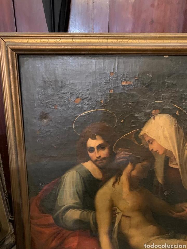 Arte: Óleo sobre lienzo del último cuarto del siglo XIX religioso - Foto 4 - 195191301