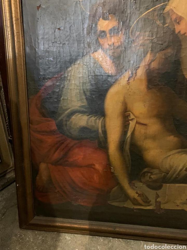 Arte: Óleo sobre lienzo del último cuarto del siglo XIX religioso - Foto 5 - 195191301