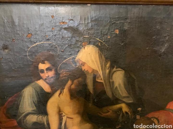 Arte: Óleo sobre lienzo del último cuarto del siglo XIX religioso - Foto 6 - 195191301