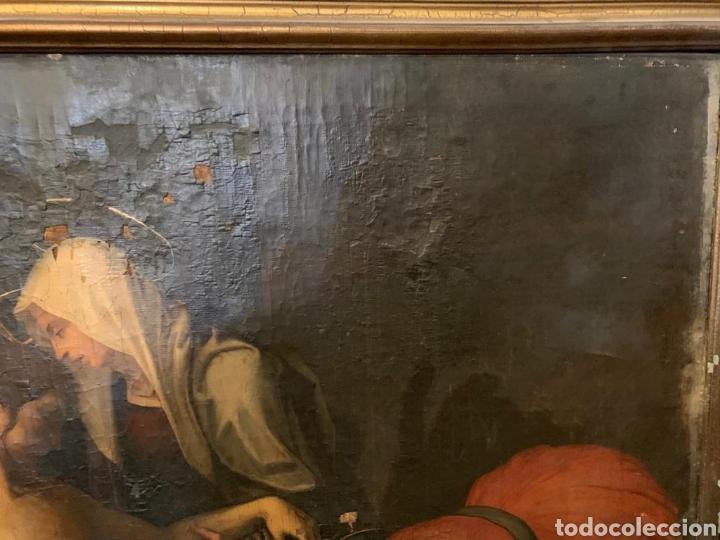 Arte: Óleo sobre lienzo del último cuarto del siglo XIX religioso - Foto 7 - 195191301