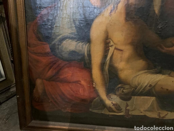 Arte: Óleo sobre lienzo del último cuarto del siglo XIX religioso - Foto 10 - 195191301