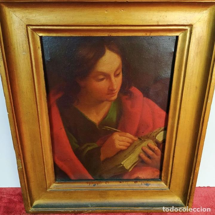 Arte: SAN JUAN EVANGELISTA. ÓLEO SOBRE COBRE. BARROCO ITALIANO. ITALIA. XVII-XVIII - Foto 2 - 195298906
