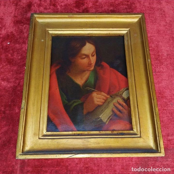 Arte: SAN JUAN EVANGELISTA. ÓLEO SOBRE COBRE. BARROCO ITALIANO. ITALIA. XVII-XVIII - Foto 3 - 195298906