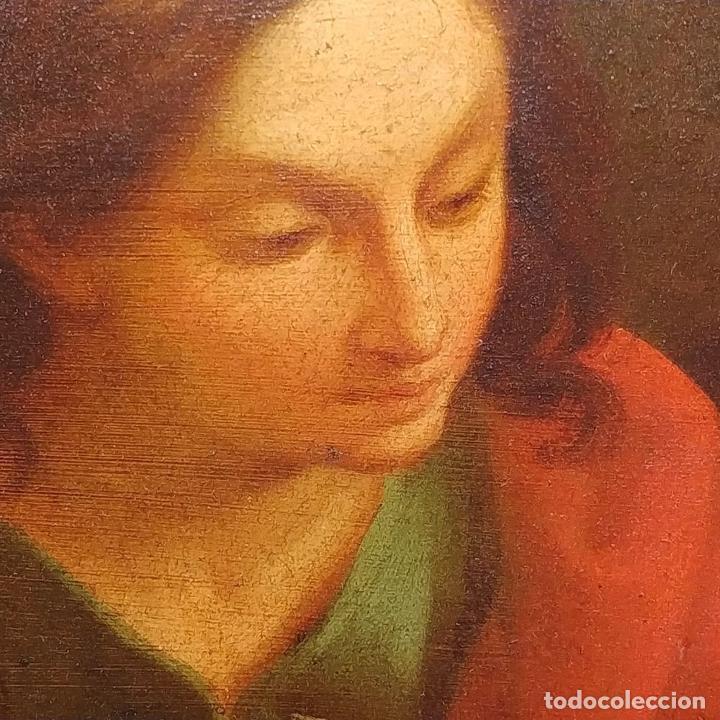 Arte: SAN JUAN EVANGELISTA. ÓLEO SOBRE COBRE. BARROCO ITALIANO. ITALIA. XVII-XVIII - Foto 4 - 195298906