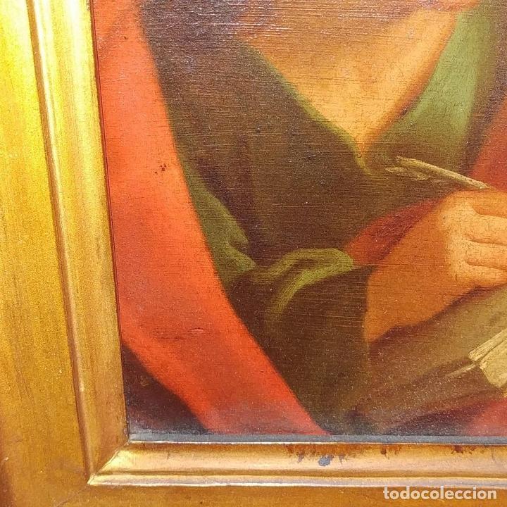 Arte: SAN JUAN EVANGELISTA. ÓLEO SOBRE COBRE. BARROCO ITALIANO. ITALIA. XVII-XVIII - Foto 7 - 195298906