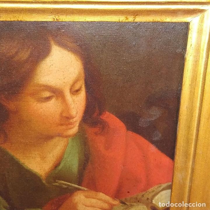 Arte: SAN JUAN EVANGELISTA. ÓLEO SOBRE COBRE. BARROCO ITALIANO. ITALIA. XVII-XVIII - Foto 8 - 195298906