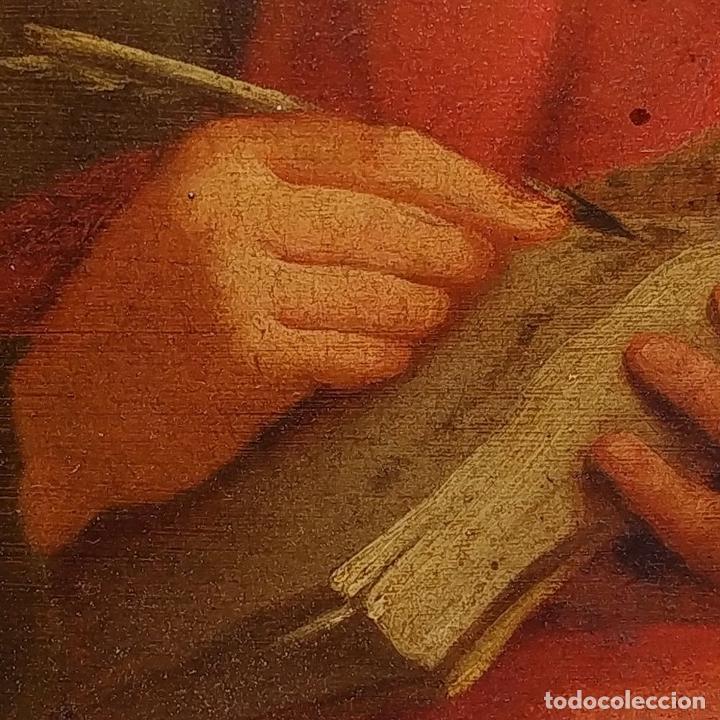 Arte: SAN JUAN EVANGELISTA. ÓLEO SOBRE COBRE. BARROCO ITALIANO. ITALIA. XVII-XVIII - Foto 10 - 195298906