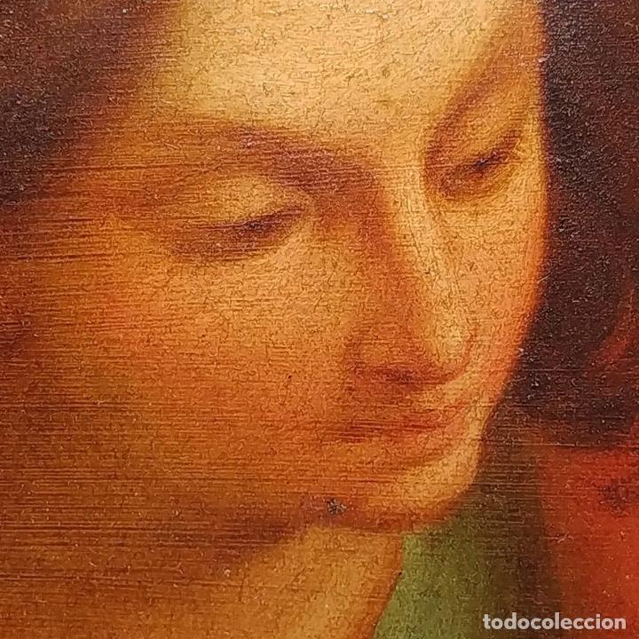 Arte: SAN JUAN EVANGELISTA. ÓLEO SOBRE COBRE. BARROCO ITALIANO. ITALIA. XVII-XVIII - Foto 11 - 195298906