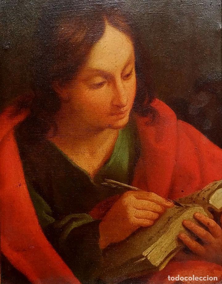 SAN JUAN EVANGELISTA. ÓLEO SOBRE COBRE. BARROCO ITALIANO. ITALIA. XVII-XVIII (Arte - Arte Religioso - Pintura Religiosa - Oleo)
