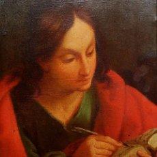 Arte: SAN JUAN EVANGELISTA. ÓLEO SOBRE COBRE. BARROCO ITALIANO. ITALIA. XVII-XVIII. Lote 195298906