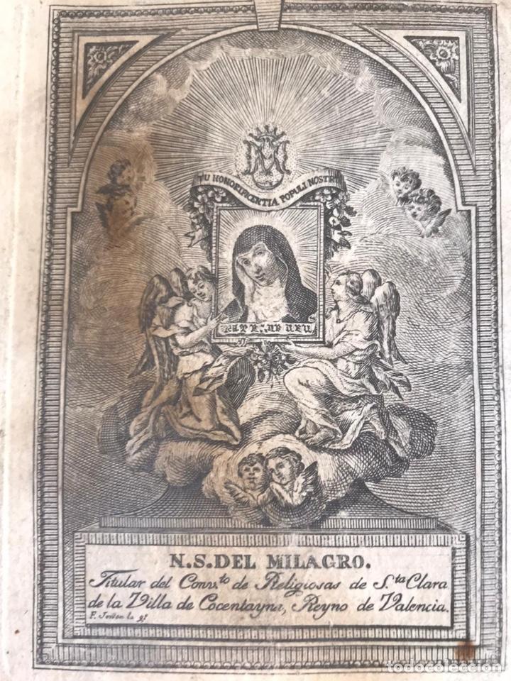COCENTAINA. N. S. DEL MILAGRO. GRABADO DE FRANCISCO JORDÁN (Arte - Arte Religioso - Grabados)