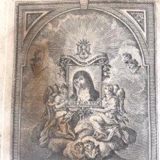 Arte: COCENTAINA. N. S. DEL MILAGRO. GRABADO DE FRANCISCO JORDÁN. Lote 195301240