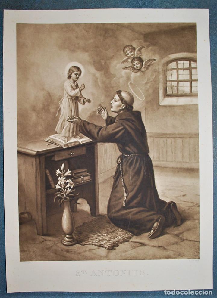 SAN ANTONIO. SAINT ANTONIUS. (Arte - Arte Religioso - Litografías)