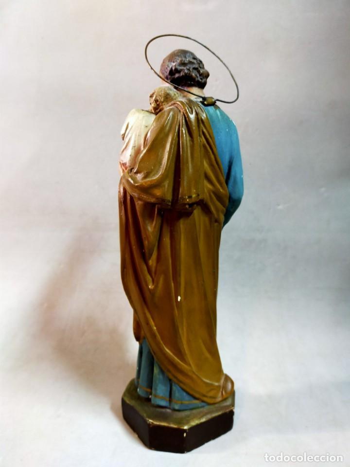 Arte: SAN JOSE CON NIÑO, FIGURA DE ESCAYOLA - Foto 4 - 195322543