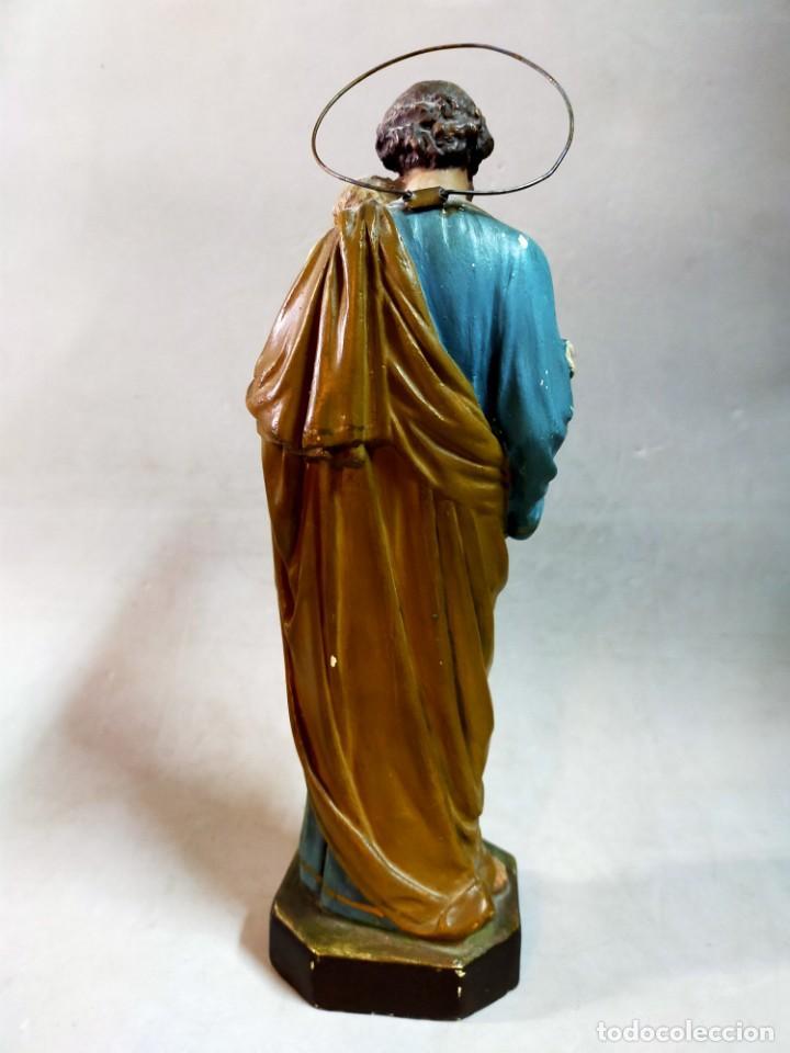 Arte: SAN JOSE CON NIÑO, FIGURA DE ESCAYOLA - Foto 5 - 195322543