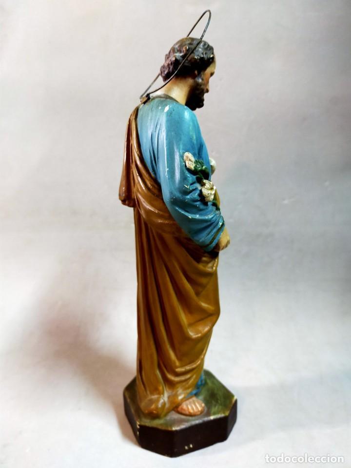 Arte: SAN JOSE CON NIÑO, FIGURA DE ESCAYOLA - Foto 6 - 195322543