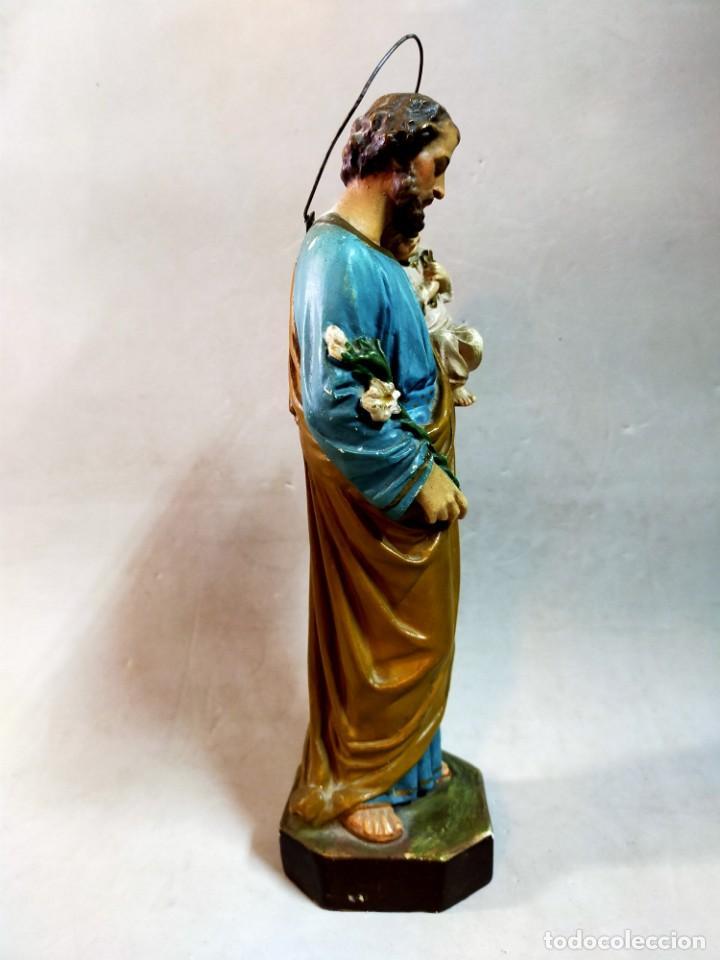 Arte: SAN JOSE CON NIÑO, FIGURA DE ESCAYOLA - Foto 7 - 195322543