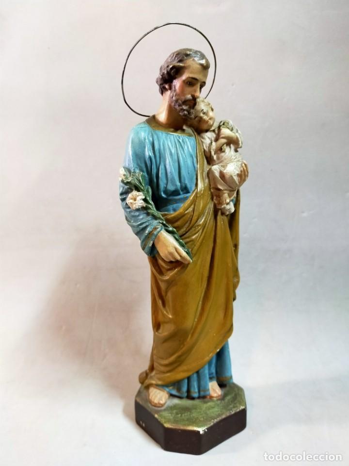 Arte: SAN JOSE CON NIÑO, FIGURA DE ESCAYOLA - Foto 8 - 195322543