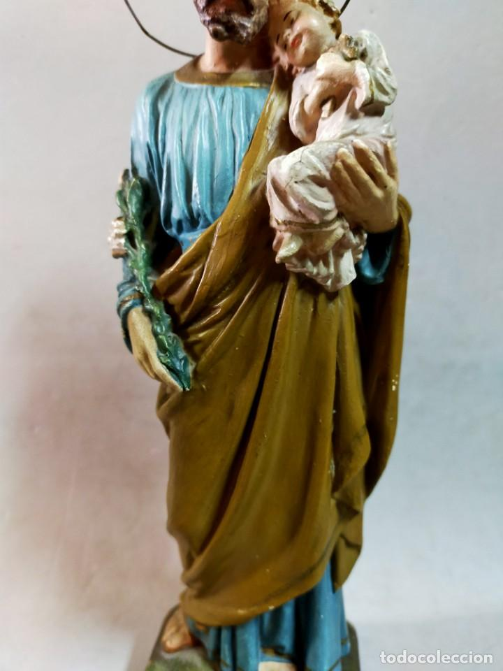 Arte: SAN JOSE CON NIÑO, FIGURA DE ESCAYOLA - Foto 11 - 195322543
