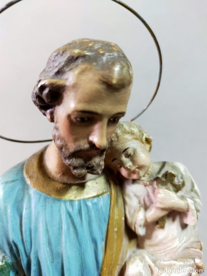 Arte: SAN JOSE CON NIÑO, FIGURA DE ESCAYOLA - Foto 16 - 195322543