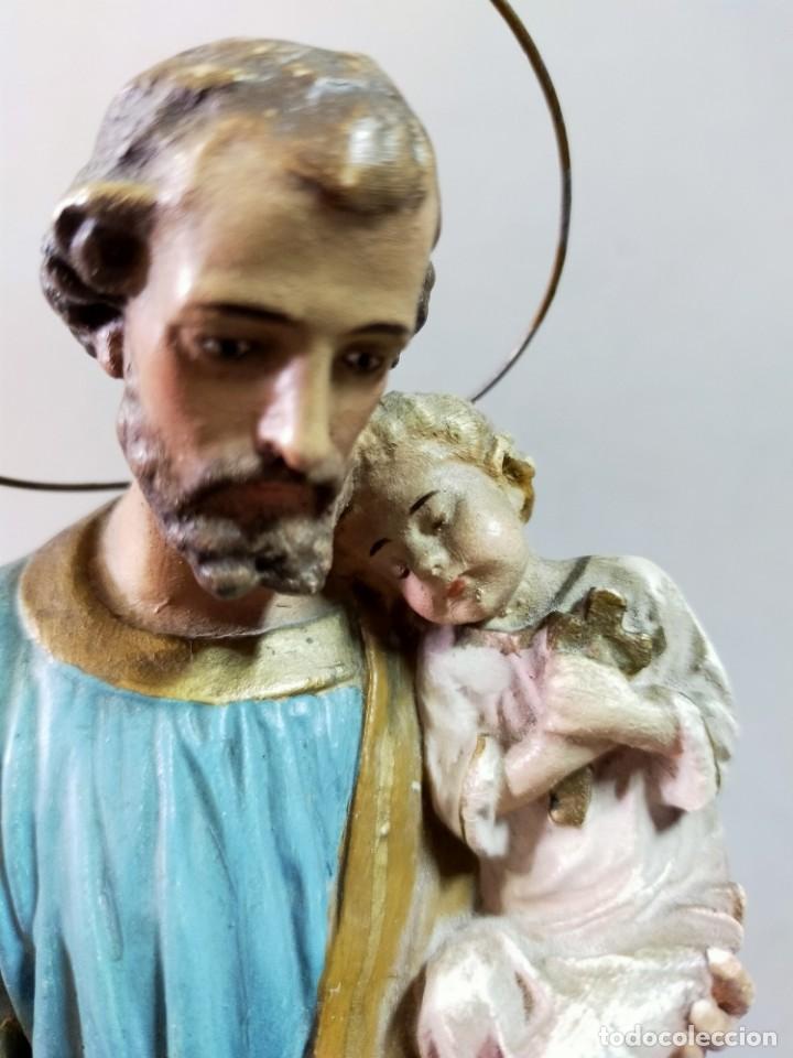 Arte: SAN JOSE CON NIÑO, FIGURA DE ESCAYOLA - Foto 17 - 195322543