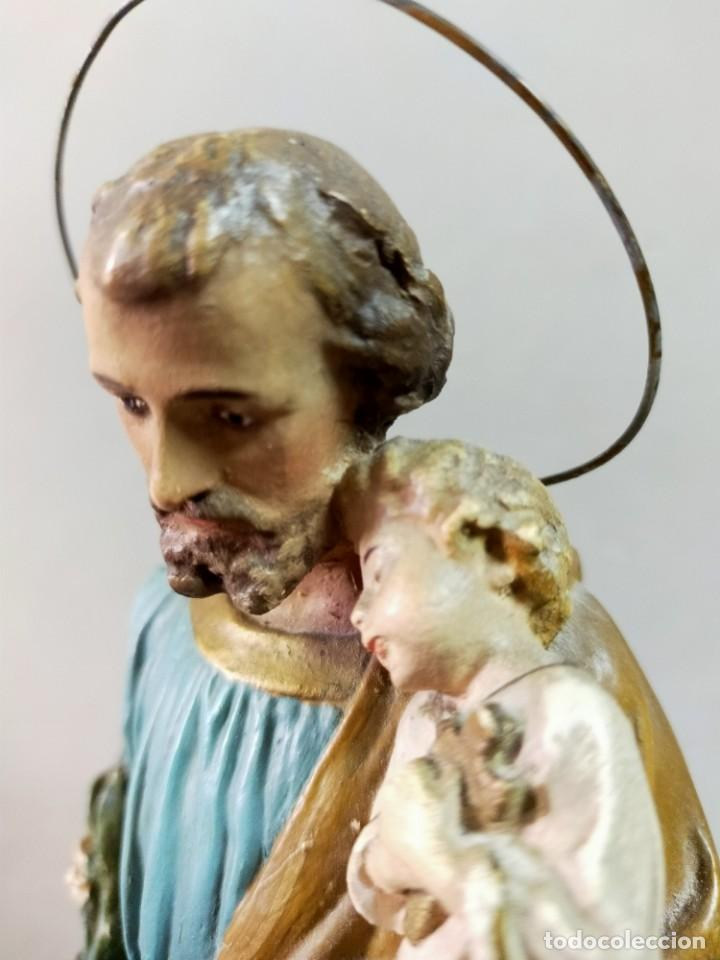 Arte: SAN JOSE CON NIÑO, FIGURA DE ESCAYOLA - Foto 18 - 195322543