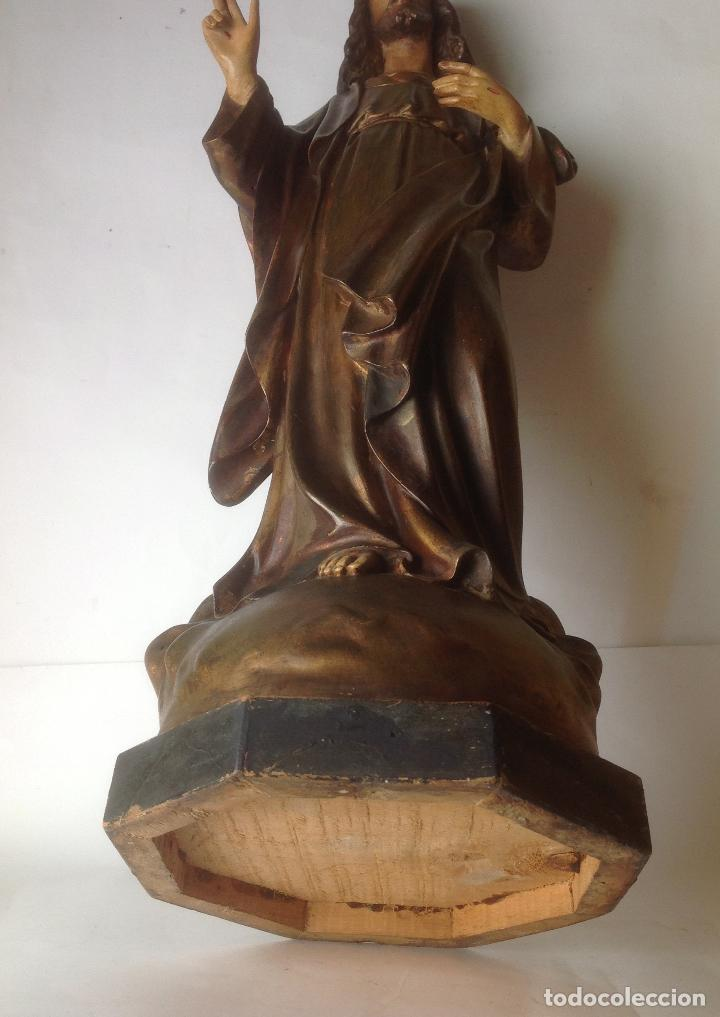 Arte: GRANDE - ANTIGUA Y EXPECTACULAR IMAGEN DE OLOT .CORAZON DE JESUS . 57 CM ALTO - Foto 12 - 195329330