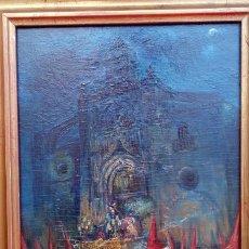 Arte: ÓLEO S/TABLA, PRENDIMIENTO DE JEREZ -EL PRENDI-. FIRMADO CON INICIALES 1947. DIM.- 44X32.5 CMS. Lote 195332608